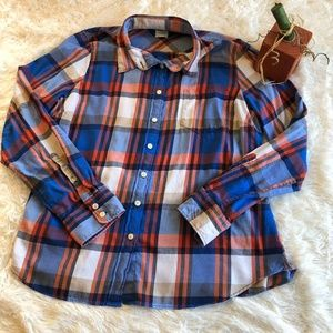 J Crew XL Perfect Fit Plaid Shirt